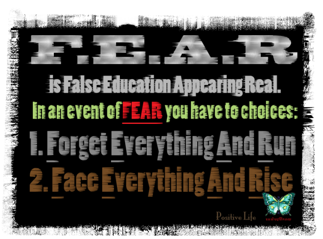 FEAR False Education Appearing Real